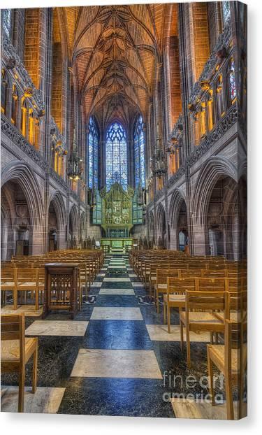 Old Christ Church Canvas Print - Lady Chapel by Ian Mitchell