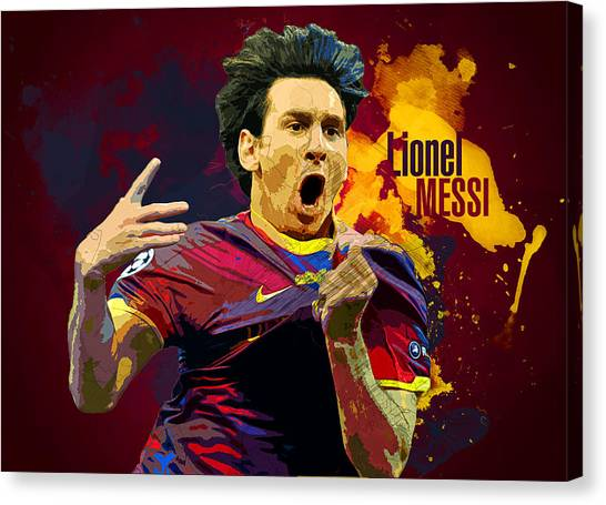 Mls Canvas Print - Lionel Messi by Semih Yurdabak