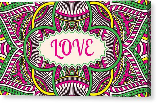 Kappa Sigma Canvas Print - Love by Tammy Groves Thornton