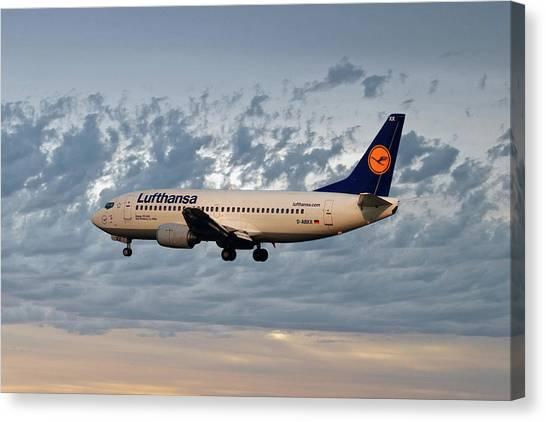 Jet Canvas Print - Lufthansa Boeing 737-300 by Smart Aviation