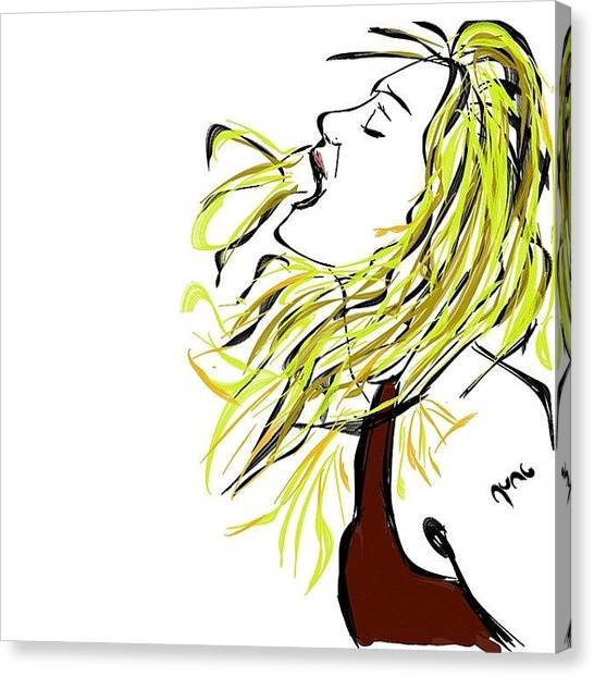 Shakira Canvas Print - Madonna by Nuno Marques