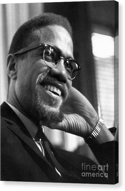 Muslim Canvas Print - Malcolm X (1925-1965) by Granger