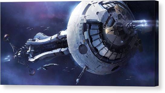 Satellite Canvas Print - Mass Effect by Maye Loeser