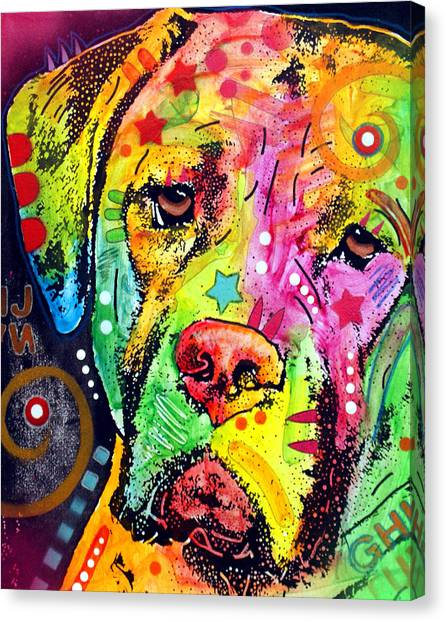 Mastiffs Canvas Print - Mastiff by Dean Russo Art
