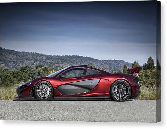 Canvas Print featuring the photograph Mclaren P1 by ItzKirb Photography