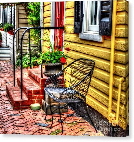 Brick House Canvas Print - Mellow Yellow by Debbi Granruth