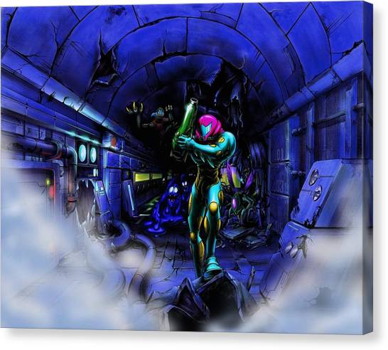 Metroid Canvas Print - Metroid by Bert Mailer