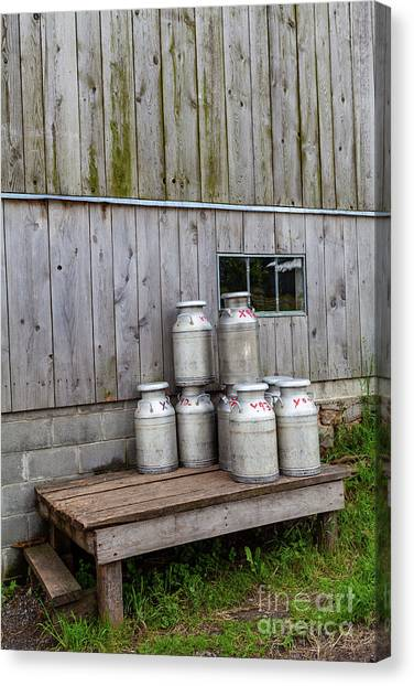 Milk Cans Canvas Print