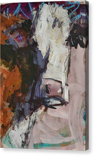 Modern Abstract Cow Painting Canvas Print