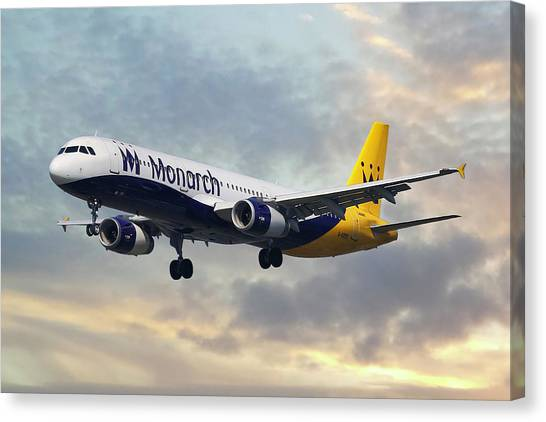 Airlines Canvas Print - Monarch Airlines Airbus A321-231 by Smart Aviation