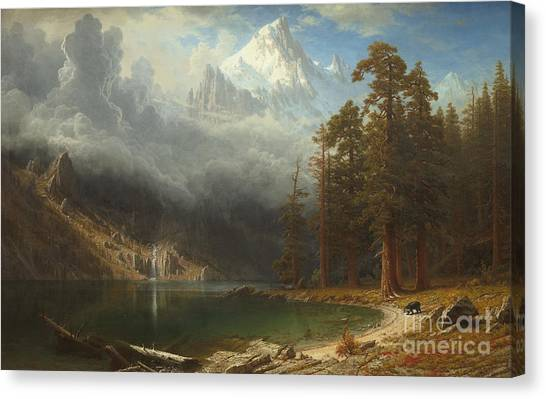 Sublime Canvas Print - Mount Corcoran by Albert Bierstadt