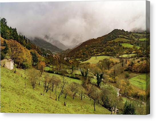 Canvas Print - Mountains And Valleys All Around by Ric Schafer