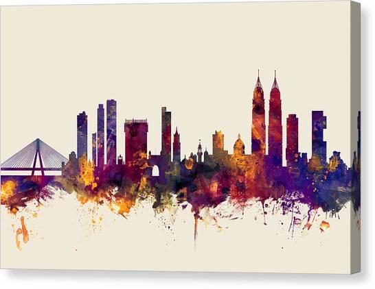 India Canvas Print - Mumbai Skyline India Bombay by Michael Tompsett