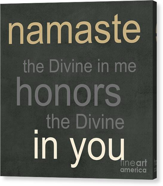 Buddha Canvas Print - Namaste by Linda Woods