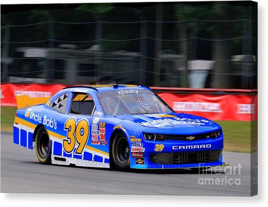 Richard Childress Canvas Print - Chevy Camaro Nascar Racing by Douglas Sacha