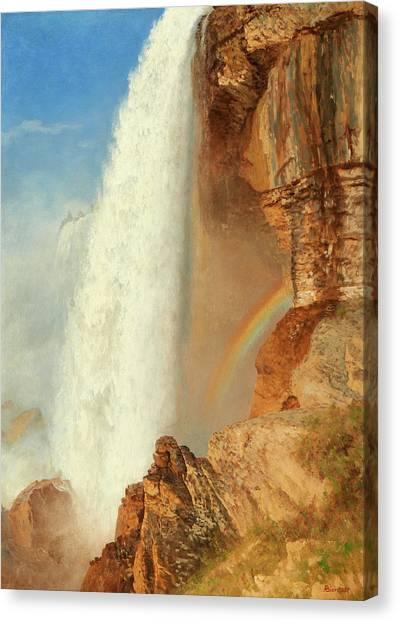 Horseshoe Falls Canvas Print - Niagara Falls by Albert Bierstadt