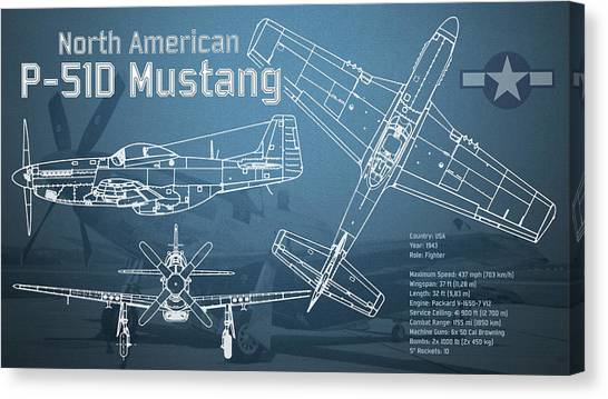 P 51 mustang art page 7 of 26 fine art america p 51 mustang canvas print north american p 51d mustang blueprint by jose malvernweather Images