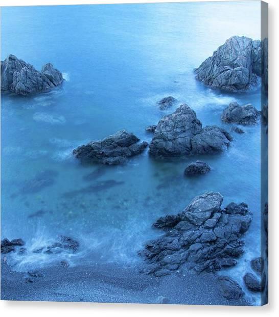 Japanese Canvas Print - 海 #sea #wave #blue #rock #move by Mitsuhiko Tsuji