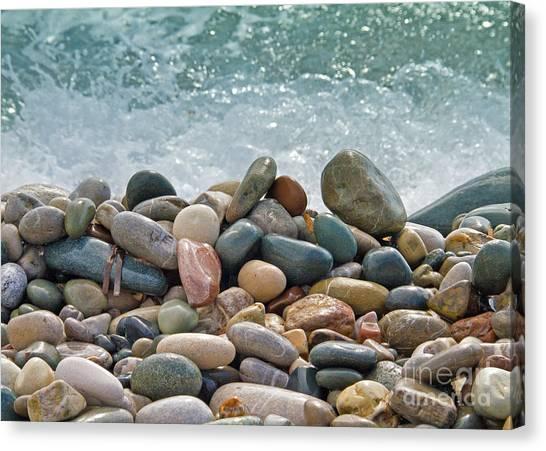 Floor Canvas Print - Ocean Stones by Stelios Kleanthous