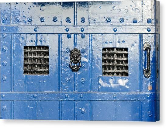 Cellar Canvas Print - Old Blue Door by Tom Gowanlock