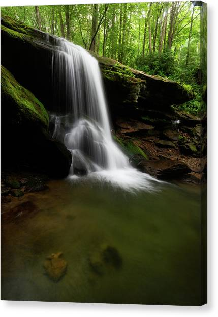 Otter Falls - Seven Devils, North Carolina Canvas Print