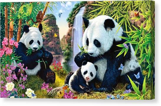 Teddy Bears Canvas Print - Panda by Super Lovely