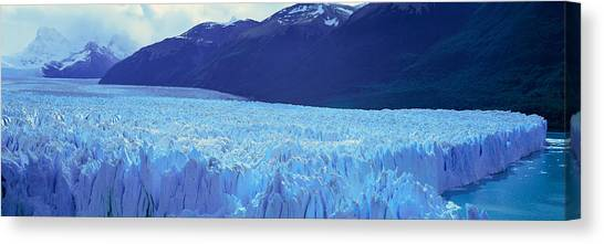 Perito Moreno Glacier Canvas Print - Panoramic View Of Icy Formations by Panoramic Images