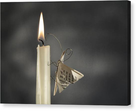 Flames Canvas Print - Paper Butterfly by Nailia Schwarz