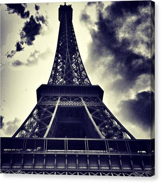 Sky Canvas Print - #paris by Ritchie Garrod
