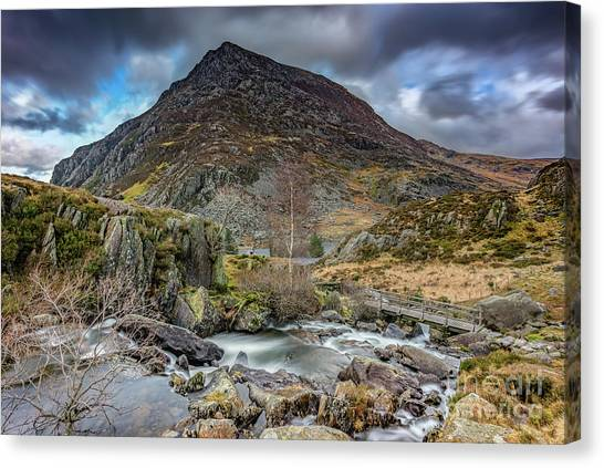 Pen Yr Ole Wen Canvas Print - Pen Yr Ole Wen Mountain by Adrian Evans
