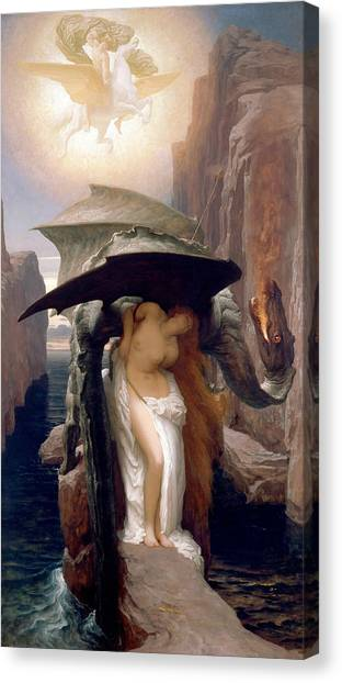 Pre-raphaelite Art Canvas Print - Perseus And Andromeda by Frederic Leighton
