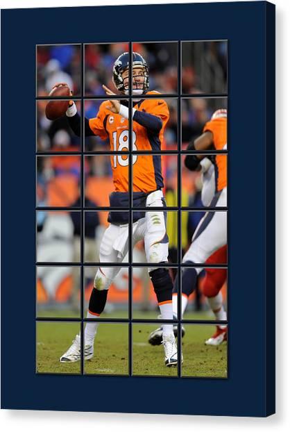 Peyton Manning Canvas Print - Peyton Manning Broncos by Joe Hamilton