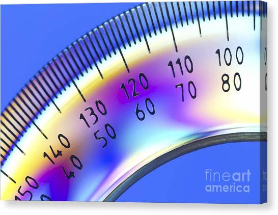 Protractors Canvas Print - Photoelastic Stress Of A Protractor by Pasieka
