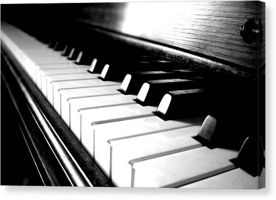 Keyboards Canvas Print - Piano by Jackie Russo