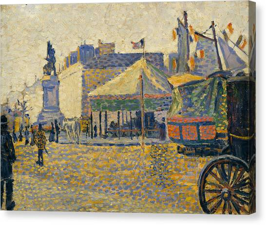 Divisionism Canvas Print - Place De Clichy by Paul Signac