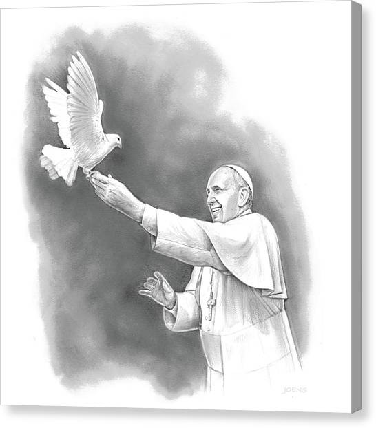 Dove Canvas Print - Pope Francis by Greg Joens