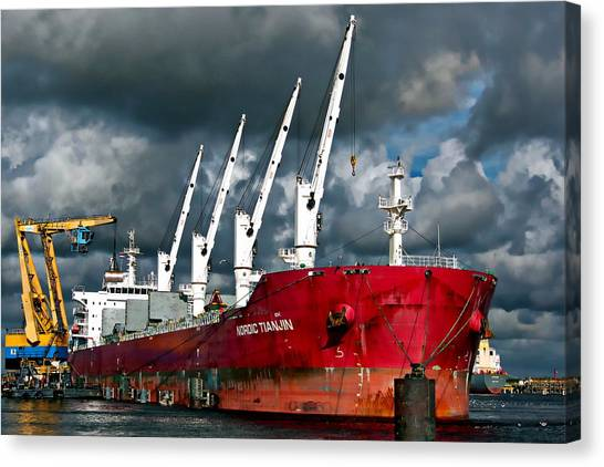 Port Of Amsterdam Canvas Print