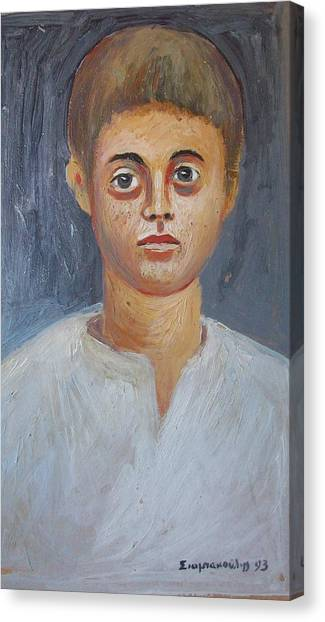 Portrait Of A Boy Canvas Print by George Siaba