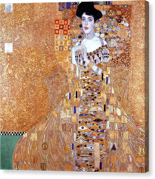 Adele Canvas Print - Portrait Of Adele Bloch-bauer I by Gustav Klimt