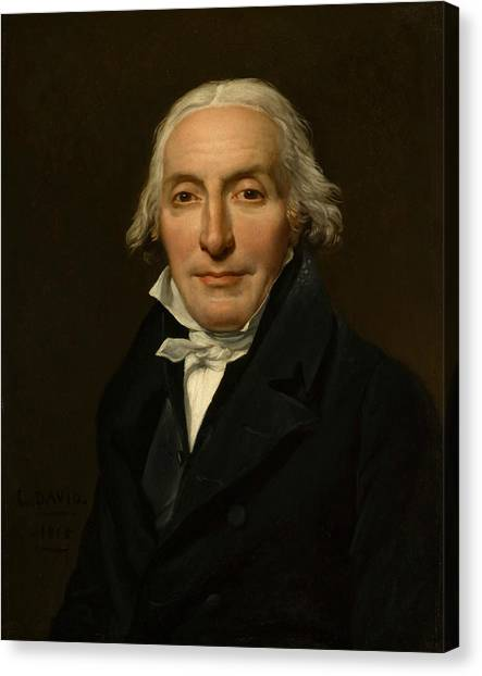Neoclassical Art Canvas Print - Portrait Of Jean-pierre Delahaye by Jacques-Louis David
