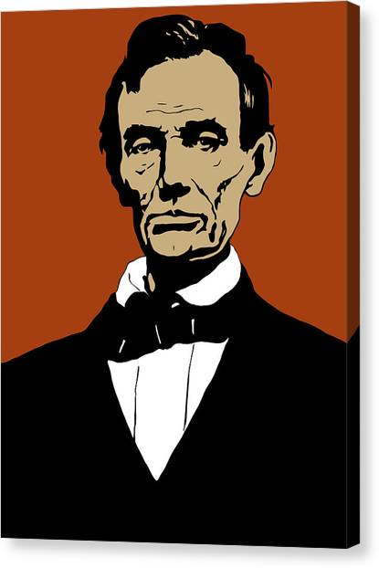 Abraham Lincoln Canvas Print - President Lincoln by War Is Hell Store