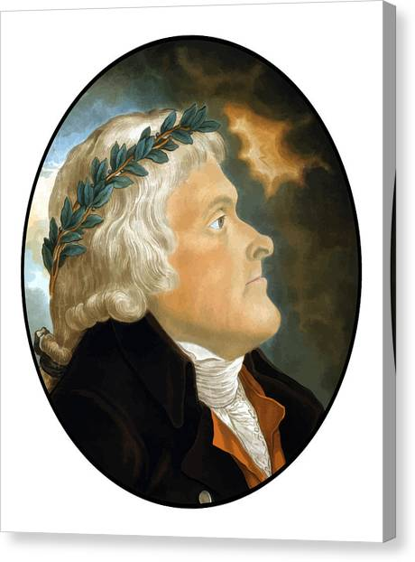 Thomas Jefferson Canvas Print - President Thomas Jefferson - Two by War Is Hell Store