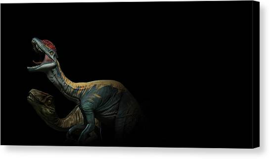 Triceratops Canvas Print - Primal Carnage by Super Lovely