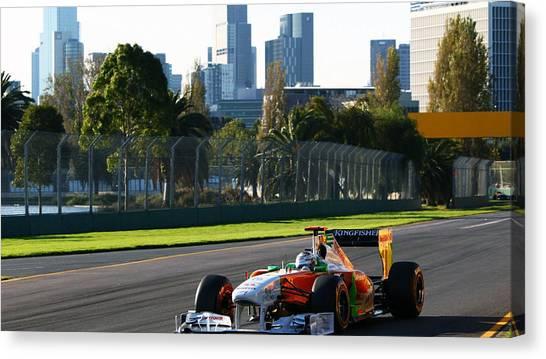 Race Cars Canvas Print - Race Car by Mariel Mcmeeking