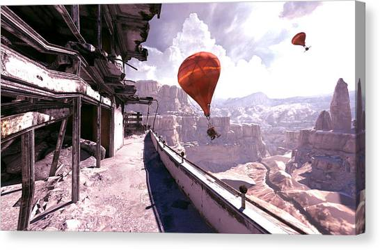 Hot Air Balloons Canvas Print - Rage by Super Lovely