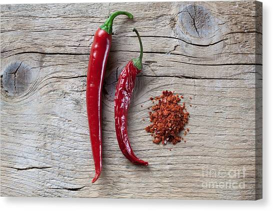 Vegetarian Canvas Print - Red Chili Pepper by Nailia Schwarz