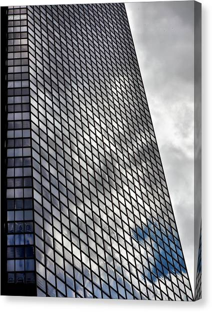 Reflective Glass And Metal Building Canvas Print by Robert Ullmann