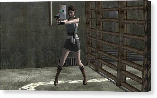 Resident Evil Canvas Print - Resident Evil by Barbara Elvins