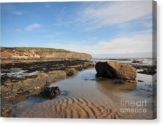 Perching Birds Canvas Print - Robin Hoods Bay by Smart Aviation