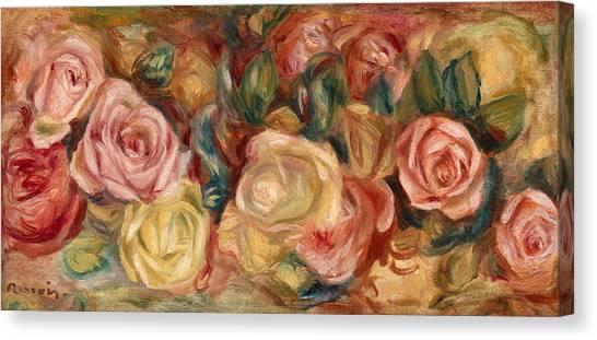 Pierre-auguste Renoir Canvas Print - Roses by Pierre-Auguste Renoir